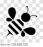 Купить «Honey bee icon», иллюстрация № 29438725 (c) Сергей Лаврентьев / Фотобанк Лори