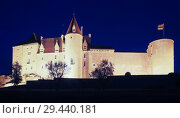 Купить «Chateau de Chateauneuf at dusk, France», фото № 29440181, снято 11 октября 2018 г. (c) Яков Филимонов / Фотобанк Лори