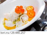 Купить «Ceviche with codfish, avocado sauce», фото № 29440257, снято 22 августа 2019 г. (c) Яков Филимонов / Фотобанк Лори