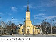 Купить «Церковь Иоанна Богослова (Яановская церковь) на площади Свободы в Таллине, Эстония», фото № 29440761, снято 18 марта 2015 г. (c) Михаил Марковский / Фотобанк Лори