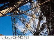 Купить «Metal frames of Eiffel Tower, Paris», фото № 29442185, снято 10 октября 2018 г. (c) Яков Филимонов / Фотобанк Лори