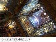 Купить «Interiors of Palau Guell», фото № 29442337, снято 2 сентября 2018 г. (c) Яков Филимонов / Фотобанк Лори