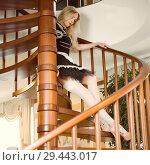 Купить «Sexy maid Young beautiful girl in a short dress», фото № 29443017, снято 26 апреля 2017 г. (c) katalinks / Фотобанк Лори