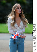 Купить «The cast of 'The Only Way Is Essex' filming a garden party scene at Colchester Castle Featuring: Lauren Pope Where: Essex, United Kingdom When: 10 May 2018 Credit: WENN.com», фото № 29444073, снято 10 мая 2018 г. (c) age Fotostock / Фотобанк Лори