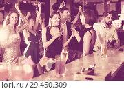 Купить «Females and males celebrating corporate», фото № 29450309, снято 20 апреля 2017 г. (c) Яков Филимонов / Фотобанк Лори