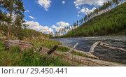 Купить «Timelapse of Yellowstone River,Yellowstone National Park, United States», видеоролик № 29450441, снято 11 ноября 2018 г. (c) Виталий Поздеев / Фотобанк Лори