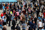 Купить «Commuters at Waterloo Station travelling out of London for the bank holiday weekend. Featuring: Atmosphere, View Where: London, United Kingdom When: 04 May 2018 Credit: Dinendra Haria/WENN.», фото № 29455017, снято 4 мая 2018 г. (c) age Fotostock / Фотобанк Лори
