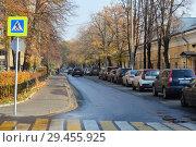 Купить «Несвижский переулок. Район Хамовники. Город Москва», эксклюзивное фото № 29455925, снято 19 октября 2018 г. (c) lana1501 / Фотобанк Лори