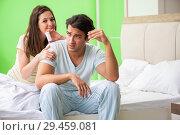 Купить «Man using pills for woman satisfaction», фото № 29459081, снято 25 июня 2018 г. (c) Elnur / Фотобанк Лори