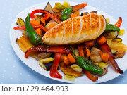 Купить «Plakiya with chicken breast», фото № 29464993, снято 24 августа 2019 г. (c) Яков Филимонов / Фотобанк Лори