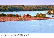 Купить «Summer sunset on Aland Islands. Finland», фото № 29470977, снято 9 июля 2018 г. (c) Валерия Попова / Фотобанк Лори