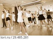 Купить «Children are dancing twist», фото № 29485281, снято 13 июля 2017 г. (c) Яков Филимонов / Фотобанк Лори