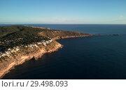 Es Ribell, rocky shoreline Mediterranean sea. Majorca. Spain (2018 год). Стоковое фото, фотограф Alexander Tihonovs / Фотобанк Лори