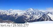 Главный кавказский хребет, вид с Эльбруса. Стоковое фото, фотограф Дмитрий Воробьев / Фотобанк Лори