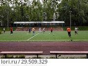 Купить «Футбол во дворе», фото № 29509329, снято 6 июня 2015 г. (c) Victoria Demidova / Фотобанк Лори