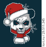 Купить «Angry Santa panda», иллюстрация № 29511345 (c) Александр Павлов / Фотобанк Лори