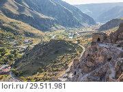Купить «Beautiful landscape, Vardzia, Georgia», фото № 29511981, снято 25 сентября 2018 г. (c) Юлия Бабкина / Фотобанк Лори