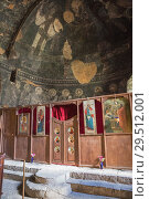 Купить «Vardzia, Church of the Dormition, view to the apse and iconostasis decorated with icons», фото № 29512001, снято 25 сентября 2018 г. (c) Юлия Бабкина / Фотобанк Лори