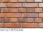 Купить «close up of brick wall texture», фото № 29512625, снято 10 февраля 2018 г. (c) Syda Productions / Фотобанк Лори