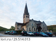 Купить «Ancient church in Bligny-sur-Ouche, France», фото № 29514013, снято 12 октября 2018 г. (c) Яков Филимонов / Фотобанк Лори