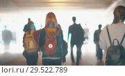 Купить «People walking in underground tunnel», видеоролик № 29522789, снято 5 августа 2018 г. (c) Данил Руденко / Фотобанк Лори