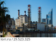 View of Montevideo city in port area (2017 год). Стоковое фото, фотограф Яков Филимонов / Фотобанк Лори