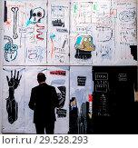 Flesh and Spirit by Jean-Michel Basquiat (Est $30m) as Sotheby's ... (2018 год). Редакционное фото, фотограф Dinendra Haria / WENN / age Fotostock / Фотобанк Лори