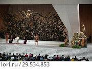 Купить «Pope Francis during his weekly general audience at Paul VI Hall, Vatican City, 05 December 2018.», фото № 29534853, снято 5 декабря 2018 г. (c) age Fotostock / Фотобанк Лори
