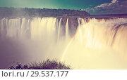 Купить «Garganta del Diablo waterfall on Iguazu River», фото № 29537177, снято 16 февраля 2017 г. (c) Яков Филимонов / Фотобанк Лори