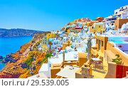 Купить «Santorini in Greece», фото № 29539005, снято 24 апреля 2018 г. (c) Роман Сигаев / Фотобанк Лори
