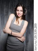 Купить «Attractive leggy woman», фото № 29539289, снято 1 декабря 2015 г. (c) Сергей Сухоруков / Фотобанк Лори