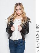 Купить «Portrait of elegance young blonde», фото № 29542197, снято 22 декабря 2015 г. (c) Сергей Сухоруков / Фотобанк Лори