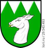 Купить «Герб города Миловице. Чехия», иллюстрация № 29543493 (c) Владимир Макеев / Фотобанк Лори
