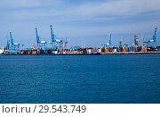 Купить «Las Palmas container port», фото № 29543749, снято 16 ноября 2018 г. (c) Tamara Kulikova / Фотобанк Лори