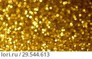 Купить «Yellow Christmas or New Year background», видеоролик № 29544613, снято 9 декабря 2018 г. (c) Сергей Петерман / Фотобанк Лори
