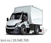 Купить «Cartoon delivery or cargo truck isolated on white background», иллюстрация № 29545765 (c) Александр Володин / Фотобанк Лори
