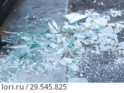 Купить «shards of broken glass on floor», фото № 29545825, снято 25 февраля 2018 г. (c) Syda Productions / Фотобанк Лори