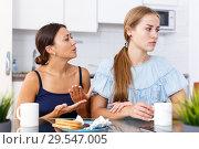 Купить «Woman apologizing from offended friend», фото № 29547005, снято 29 августа 2018 г. (c) Яков Филимонов / Фотобанк Лори