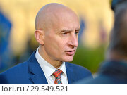 Купить «Andrew Adonis, Baron Adonis (Labour Peer) on College Green, Westminster, London. Novemver 2018.», фото № 29549521, снято 14 ноября 2018 г. (c) age Fotostock / Фотобанк Лори