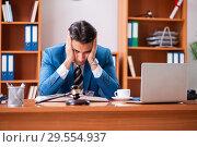 Купить «Lawyer working in the office», фото № 29554937, снято 8 августа 2018 г. (c) Elnur / Фотобанк Лори
