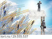 Купить «Concept of mentorship in business and career progression», фото № 29555537, снято 20 марта 2019 г. (c) Elnur / Фотобанк Лори