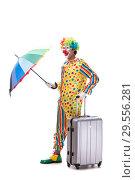 Купить «Funny clown isolated on white background», фото № 29556281, снято 28 сентября 2018 г. (c) Elnur / Фотобанк Лори