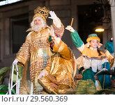 Купить «Grand parade in Barcelona», фото № 29560369, снято 5 января 2017 г. (c) Яков Филимонов / Фотобанк Лори