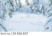 Купить «Winter background», фото № 29560837, снято 4 декабря 2018 г. (c) Икан Леонид / Фотобанк Лори
