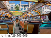 Купить «Туристы внутри прогулочного катера в Амстердаме», фото № 29563669, снято 2 июля 2018 г. (c) V.Ivantsov / Фотобанк Лори