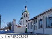 Купить «Церковь Троицы Живоначальной в Зарайске», фото № 29563685, снято 9 марта 2018 г. (c) Natalya Sidorova / Фотобанк Лори