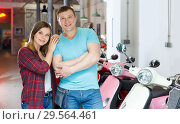 Купить «Portrait adult couple who is standing satisfied», фото № 29564461, снято 8 мая 2018 г. (c) Яков Филимонов / Фотобанк Лори
