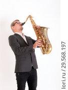 Купить «Studio portrait of a musician», фото № 29568197, снято 24 сентября 2012 г. (c) Argument / Фотобанк Лори