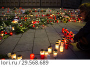Купить «Germany, Berlin - Commemoration of the victims of the terrorist attack at Christmas Market Breitscheidplatz (Gedaechtniskirche) 2016», фото № 29568689, снято 20 декабря 2017 г. (c) Caro Photoagency / Фотобанк Лори