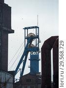 Купить «Poland, Bytom (Bytom) - winding tower of the disused KWK Szombierki colliery», фото № 29568729, снято 28 февраля 2018 г. (c) Caro Photoagency / Фотобанк Лори